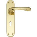 Idro Sash Lock Door Handles Polished Brass