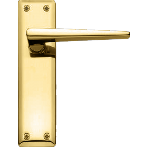 Lugano Latch Door Handles Polished Brass