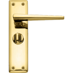 Lugano Privacy Lever Door Handle Polished Brass