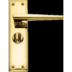 Lugano Privacy Door Handles Polished Brass