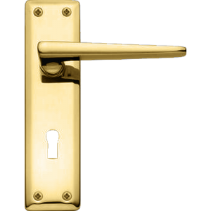Lugano Sash Lock Door Handles Polished Brass