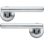 Riva Lever On Rose Door Handles Polished Chrome