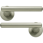 Riva Lever On Rose Door Handles Satin Nickel