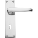 Victorian Sash Lock Door Handles Polished Chrome
