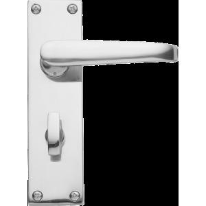 Victorian Bathroom Lock Door Handles Polished Chrome