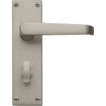 Victorian Bathroom Lock Door Handles Satin Nickel