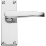 Victorian Latch Door Handles Polished Chrome