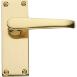 Victorian Latch Door Handles Polished Brass