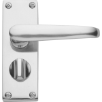Victorian Privacy Door Handles Polished Chrome