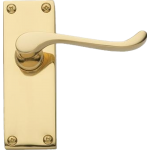 Victorian Scroll Latch Door Handles Polished Brass