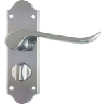 Chrissi Shaped Privacy Door Handles Polished Chrome