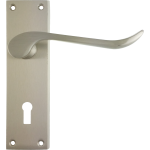 Chrissi Sash Lock Door Handles Satin Nickel