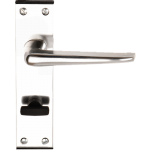 Crofton Bathroom Door Handles Polished Aluminium