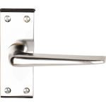 Crofton Latch Lever Door Handles Polished Aluminium