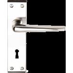 Crofton Sash Lock Door Handles Polished Aluminium