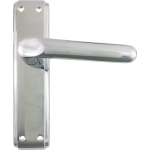 Deco Latch Lever Handles Polished Chrome