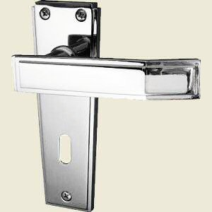 Deco Polished Chrome Door Handles
