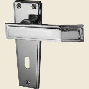 Deco Satin Chrome Door Handles