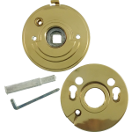 Gainsborough Knob Set Privacy Adaptor Polished Brass