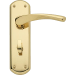 Garda Bathroom Door Handles Polished Brass