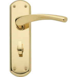 Garda Bathroom Door Handles Polished Brass