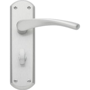 Garda Bathroom Door Handles Satin Nickel