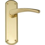 Garda Latch Door Handles Polished Brass