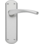 Garda Latch Door Handles Satin Nickel