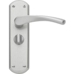 Garda Privacy Door Handles Satin Nickel