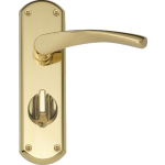 Garda Privacy Door Handles Polished Brass