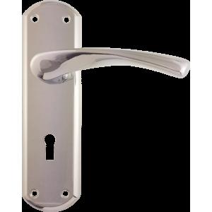 Garda Sash Lock Door Handles Polished Chrome