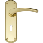 Garda Sash Lock Door Handles Polished Brass