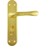 Genoa Bathroom Lock Door Handles Polished Brass