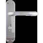 Genoa Bathroom Lock Handle Set Polished Chrome