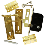 Georgian Brass-Ware 3-Lever Lock Pack
