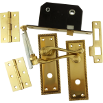 Georgian Brass-Ware Bathroom Lock Pack