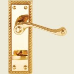 Georgian Brass Bathroom Lock Handle