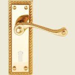 Georgian Brass Lock Handle
