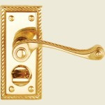 Georgian Brass Privacy Handle