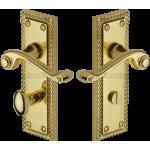 Georgian Brass Bathroom Lock Handles