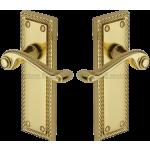 Georgian Brass Latch Lever Handles