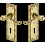 Georgian Brass Sashlock Handles