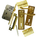 Georgian Brass-Ware Premium 3-Lever Lock Pack