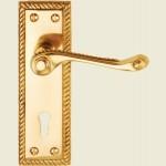 Georgian Brass Sash-Lock Handles