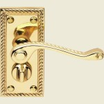 Georgian Scroll Privacy Lever Handles