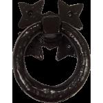 Gothic Gate Door Ring Handle Black Antique