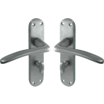 Gull Wing Lever Bathrrom Lock Door Handles Satin Chrome