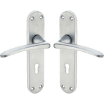 Gull Wing Lever Sash Lock Door Handles Satin Chrome