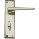 Lugano Bathroom Lock Door Handles Satin Nickel