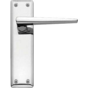 Lugano Latch Door Handles Polished Chrome